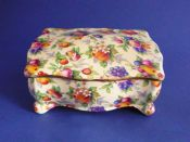 Superb Grimwades Royal Winton 'Evesham' Chintz Candy Box c1950